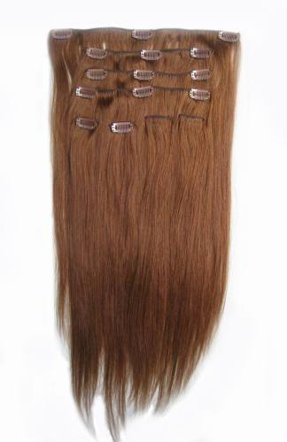 8 pieces clip in remy human hair extension