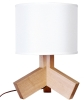 Lightingbird New Wood Table Lamp with TC shade