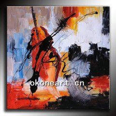 Handmade abstract oil painting on canvas