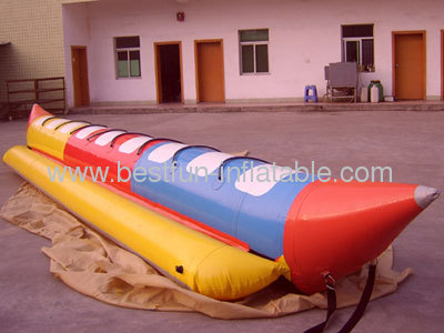 PVC Material Inflatable Banana Boat For Sale