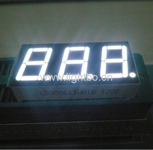 Super bright red common anode 0.56 3 digit 7 segment led display for Instrument Panel