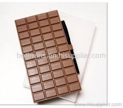 Waterproof chocolate notebook