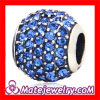 european Sapphire Crystal Sterling Silver Beads For Bracelets Sale