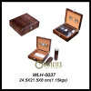 Cigar Leather Humidor Box Set with Cigar Tube & Leather Case