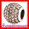 Sterling Silver 925 european Crystal Charm Beads For european Bracelets