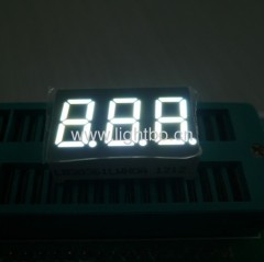 3 digit 0.36 inch (9.2mm) common cathode ultra bright white 7 segment led display