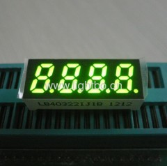 Four digit 0.32 inch common anode super bright green 7 segment led display