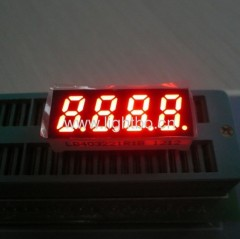"Common Anode four digit 0.32"" super bright red 7 segment led display"
