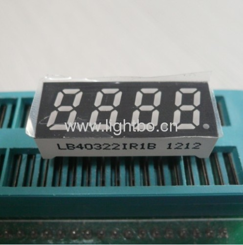 Common Anode four digit 0.32super bright red 7 segment led display