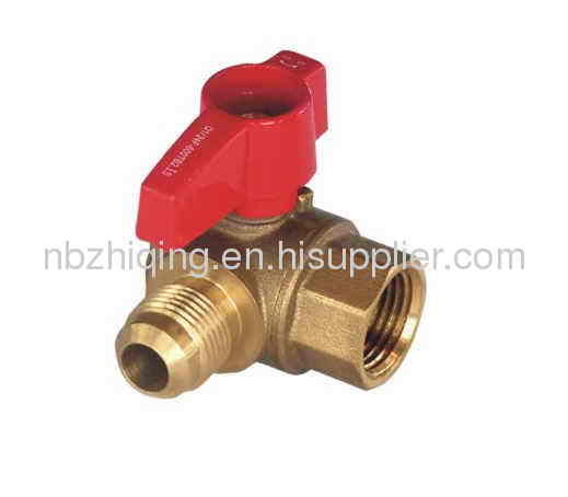 CSA 1/2;5psig Approved,Flare x FIP Brass Gas Angle Ball Valve With Aluminum Lever Handle