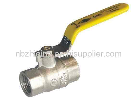 UL Approved,FPT/FPT Full Port Ball Valve With Steel Lever Handle;Nickel Plated