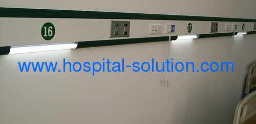 Hospital Using Medical HeadWalls with French Standard Medical Gas Outlets