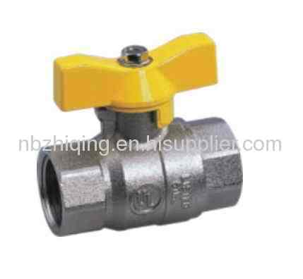 UL Approved,FPT/FPT Full Port Ball Valve With Aluminum T Handle,Nickel Plated