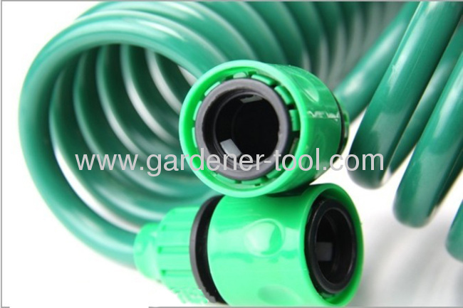 50FT Coil Hose With 2-Function Spray Nozzle Set