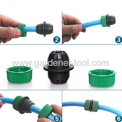 Plastic 3/4hose amender for connectoring 2pcs 3/4PVC garden hose together
