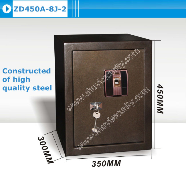 big steel fingerprint keylock safe box