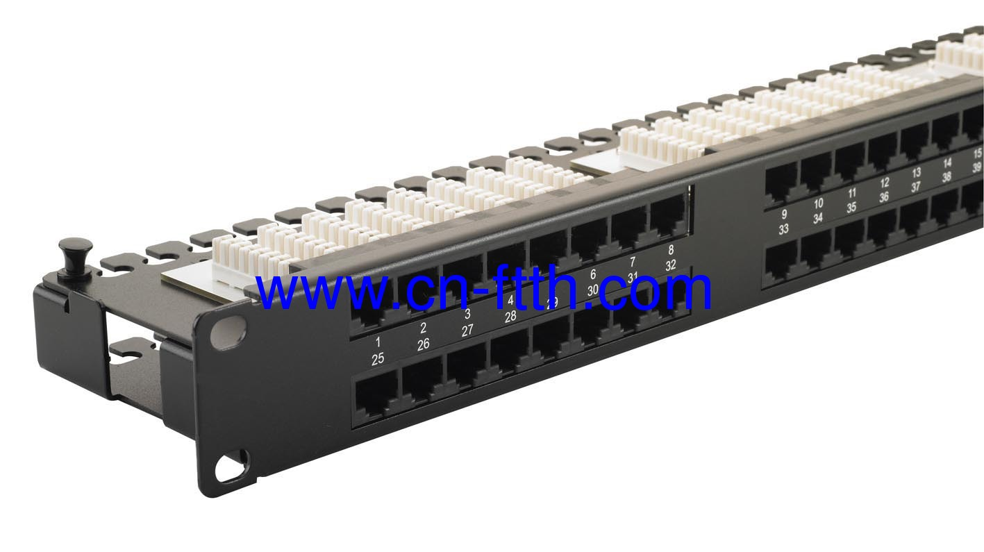 Cat 5e Unshielded Twisted Pair Utp 1u 48 Port Patch Panel From Wiring Diagram On Shielded Ether Cable Cat5e Utp19 Inch Ports