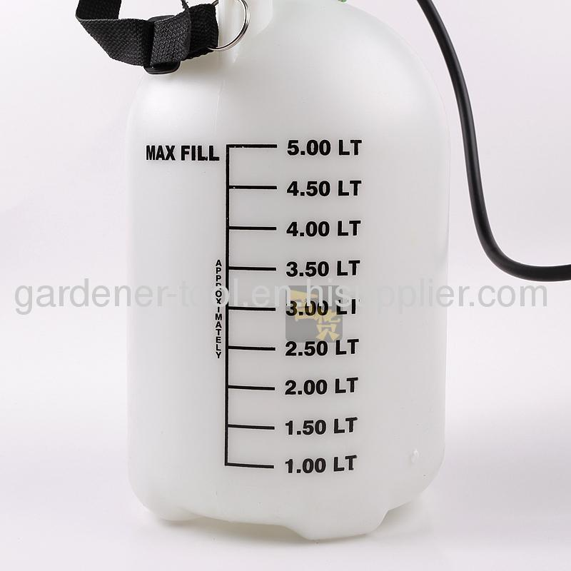 5.0L Single-Shoulder Air Pressure SprayerWith Funnel For Farm and Garden