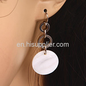 New Products For 2013 White Mother Of Pearl Sea Shell Earrings