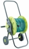 Folded Garden Hose Reel Cart With 15M PVC Garden Hose