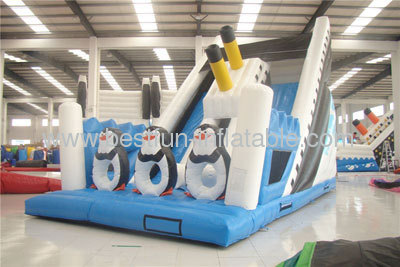 Inflatable Penguins Slides