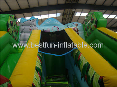 Inflatable Hill Safari Slides