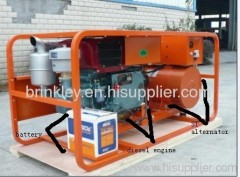 10KW Single-cylinder water-cooled diesel generator genset