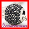 european Style Black Swarovski Crystal Silver Beads And Charms Sale