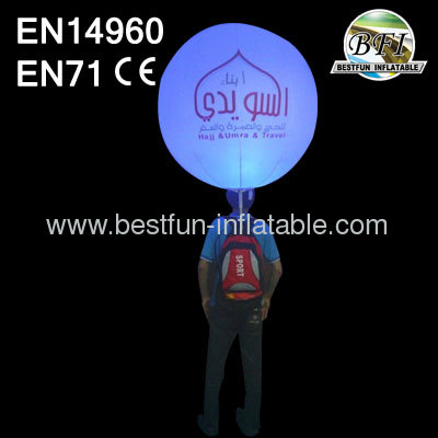 LED Lighting Advertisement Inflatable Backpack Ball