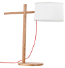 Simple design wood table lamp