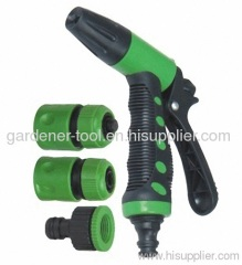 2-way plastic garden trigger nozzle set with connector