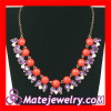 Fashion Costume Resin Crystal Bib Necklace Jewelry
