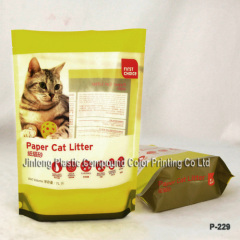 cat food bottom gusset stand up bag