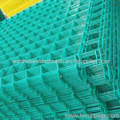Green PVC Coated Heavy Welded Wire Mesh Panel