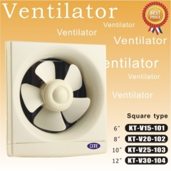 Square type of ventilator fan five blades 10 inch