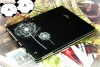 black color dandelion printing ipad case
