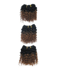 Jerry curl hair weft 3pcs