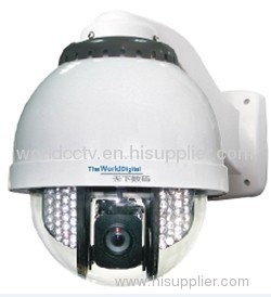 Intelligent IR CCTV High Speed PTZ Dome Camera