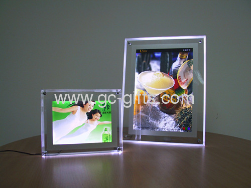 Ultra-thin crystal light boxes for poster