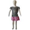 girl's T-shirt and skirt set