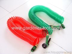 Transparent Garden Water Coil Hose With Copper Connector