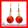 Wholesale Nickel Free European Plastic Bead Earrings For Women Drop