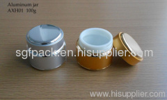 100g Anodized Aluminum container cream jar Cosmetic container Double wall jar inner plastic jar Hot sale Personal care