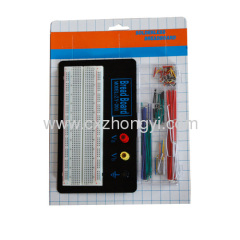 830 points solderless breadboard + solderless breadboard jumper wire cable kit