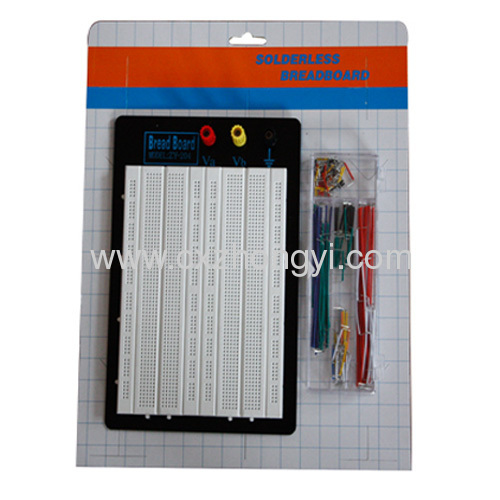 1680 points solderless breadboard + jumper wire kit