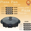 Steam release valve glass lid pizza pan