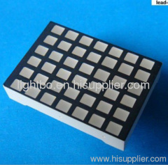 3.0 x 3.5mm 6 x 7 square dot matrix led displays with package dimensions 24 x 34 x 7 mm