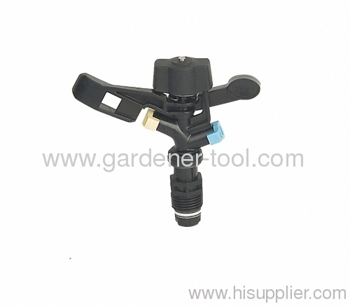"Plastic impulse sprinkler with G/1/2"" male tapping"