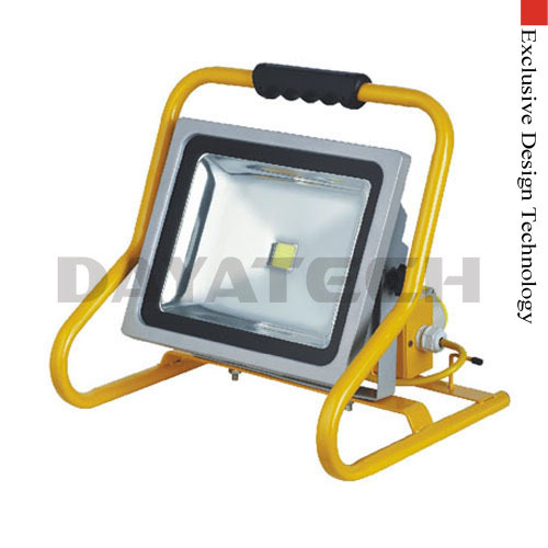 Portable 50W LED floodlight with BS sockets