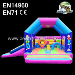 Colorful Inflatable Bouncer With Slide